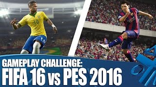 FIFA 16 Vs PES 2016: Ultimate gameplay challenge!