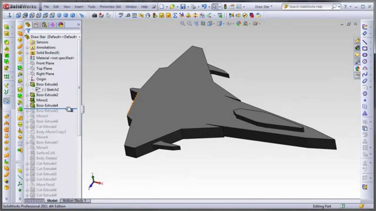 Solidworks plane cad model youtube Cad models
