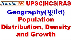 Geography Population distribution, density and growth explained in Hindi | UPSC | PCS