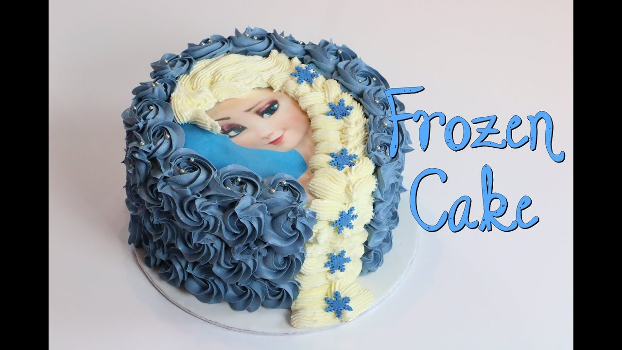 Top GÂTEAU REINE DES NEIGES | FROZEN CAKE - YouTube UL36