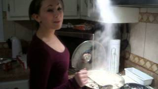 Mallori Nicole Cooking Fettuccine Alfredo