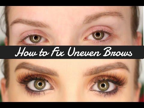 How to Fill In Uneven Brows | XxSarahNicolexX