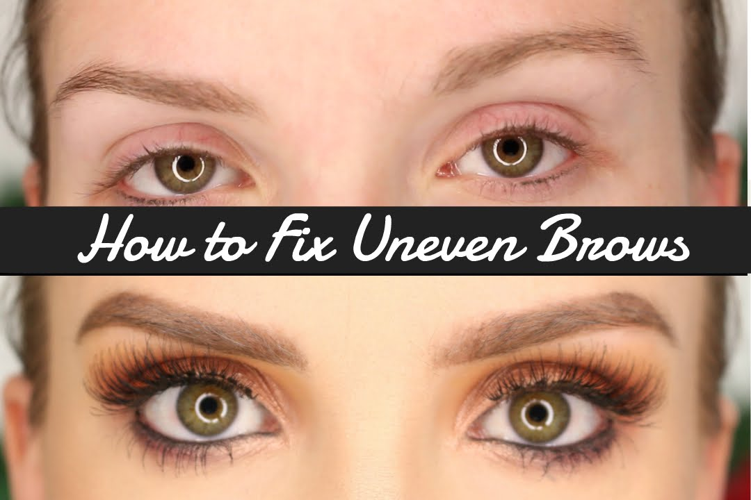 How To Fill In Uneven Brows Xxsarahnicolexx Youtube