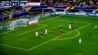 Clint Dempsey Goal Ties US Scoring Record 2-0 USA vs Costa Rica Gold Cup 2017 7/22/17