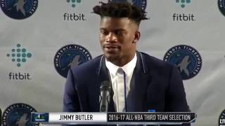 """Jimmy butler gives his phone number and says """"if you have a problem call me"""""""