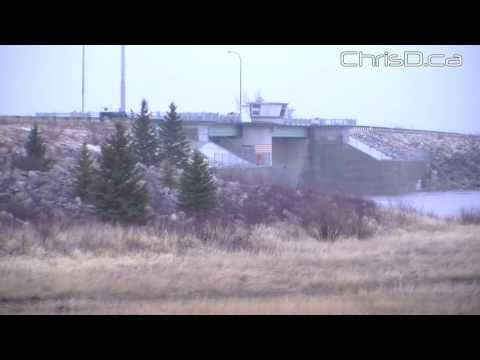 Red River Floodway Gates Opened - April 29, 2013 - Winnipeg, Manitoba