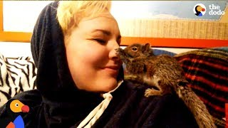 Woman Sends Baby Squirrels She Rescued Back To The Wild | The Dodo