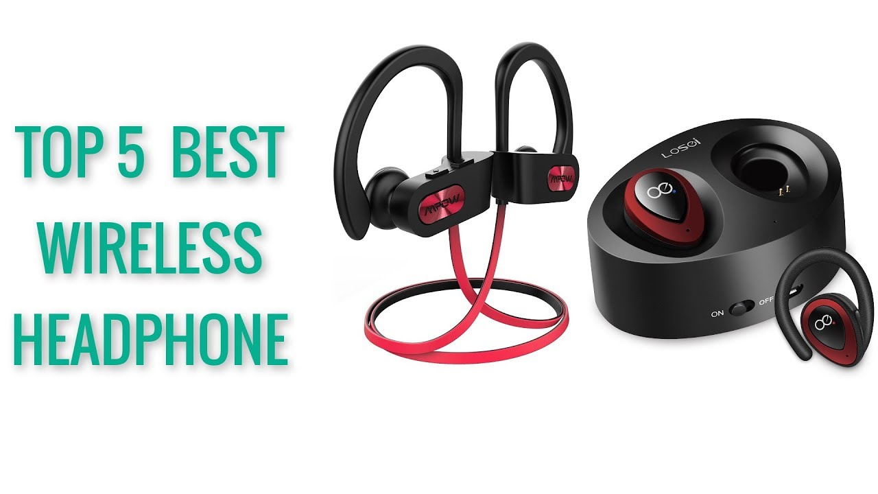 91d4717adf9 Top 5 Best Wireless Headphones - 2018 ! Bluetooth Headphone, HD Microphone,  Waterproof .