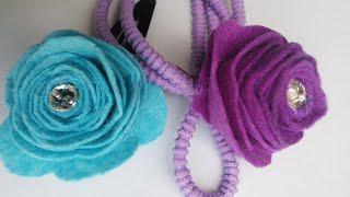 Felt Flower Craft Tutorial | Hair bands and Hair clips | HandiWorks #40