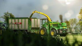 Lohnbetrieb Wolken Wittmund - Gras häckseln in episch
