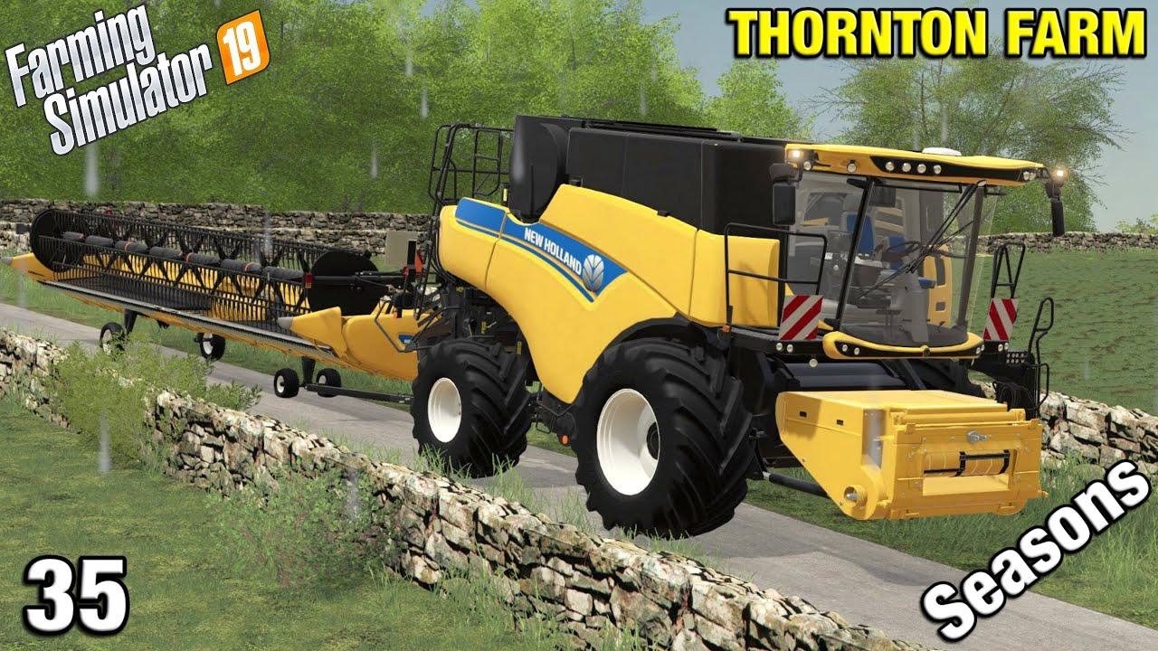 Download NEW COMBINE ARRIVES ON THE FARM Thornton Farm Timelapse - FS19 Ep 35