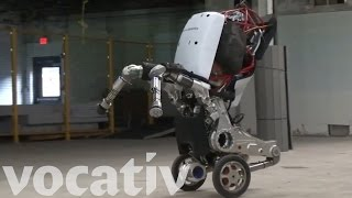 Just A Robot On Wheels That Can Jump Four Feet