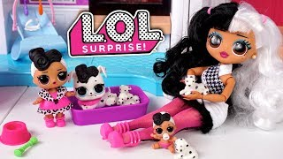 LOL Doll Family Babysitting Night Routine - Playdate & Sleepover Party