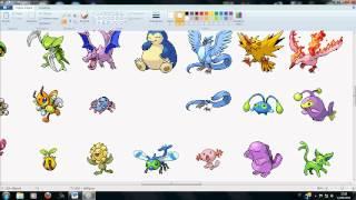 How to make a fakemon(pokemon sprite)!