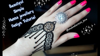 How to apply easy simple henna mehndi designs for hands tutorial eid marraige 2017