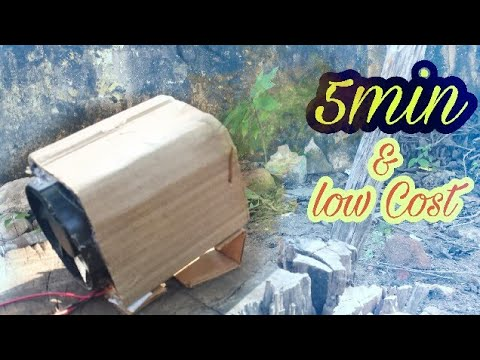 How To Make A Room Heater (low cost & 5 min)