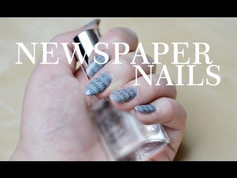 NEWSPAPER - NAILS TUTORIAL