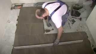 видео класть плитку на пол