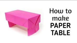 How to make origami paper table - 1 | Origami / Paper Folding Craft, Videos & Tutorials.