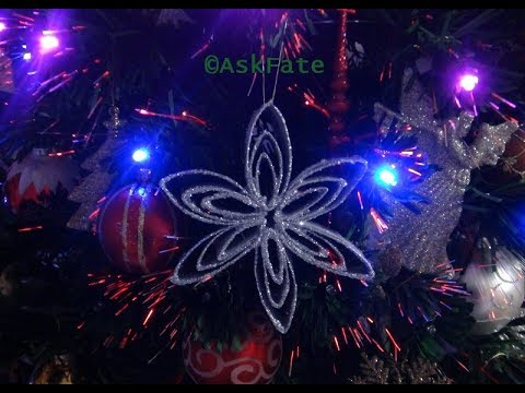 Christmas Ornaments made out of Upcycled Paper Towel Rolls - DIY
