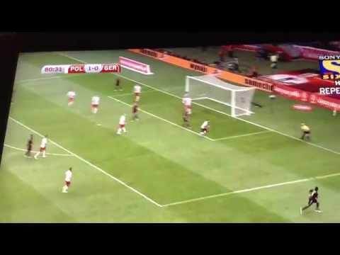 Lukas Podolski stunning volley Vs Poland(12-10-14)