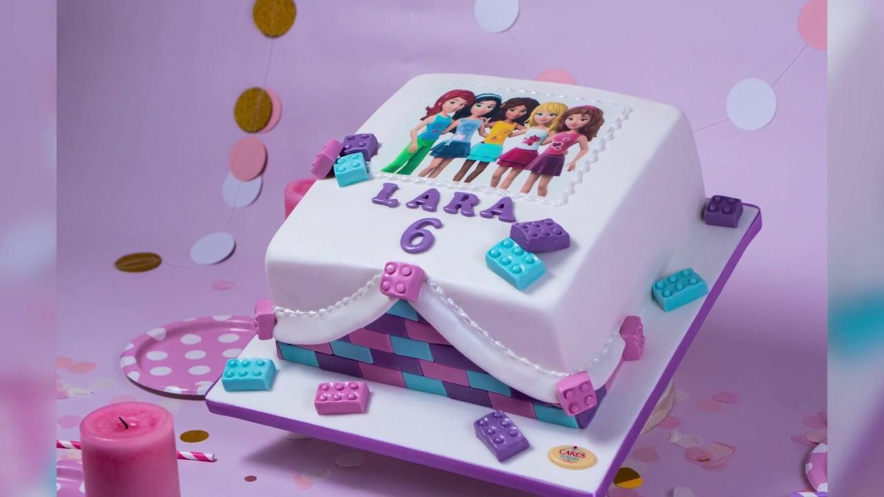 Lego Friends Cake Youtube