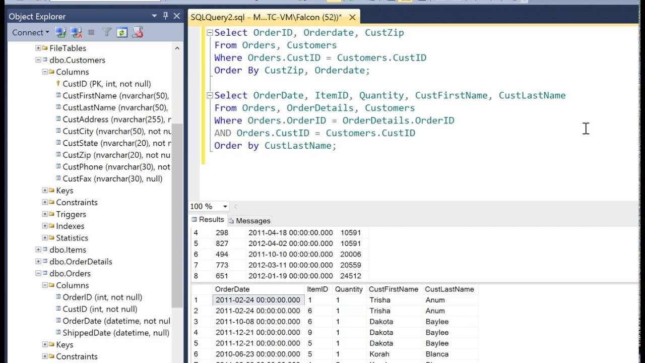 Querying multiple tables with sql youtube querying multiple tables with sql gamestrikefo Gallery