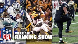 Top 10 Plays, Top 3 Celebrations & Top 5 Finishes! | Week 16 Ranking Show | NFL NOW