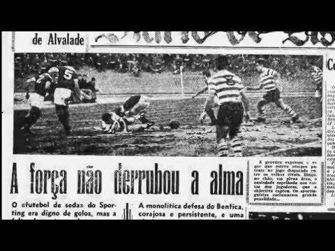 Sporting - 1 x Benfica - 1 de 1959/1960 - Golo irregular de José Augusto (Benfica)