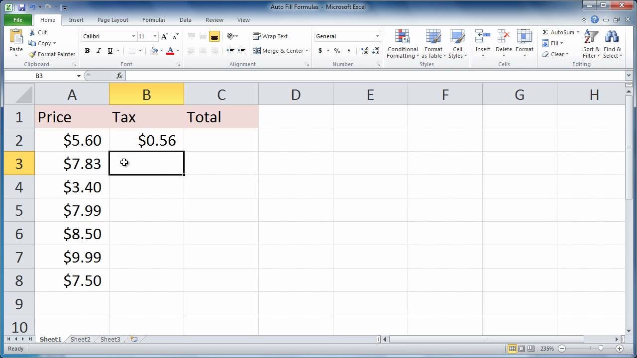 Stop auto calculation in excel 2007