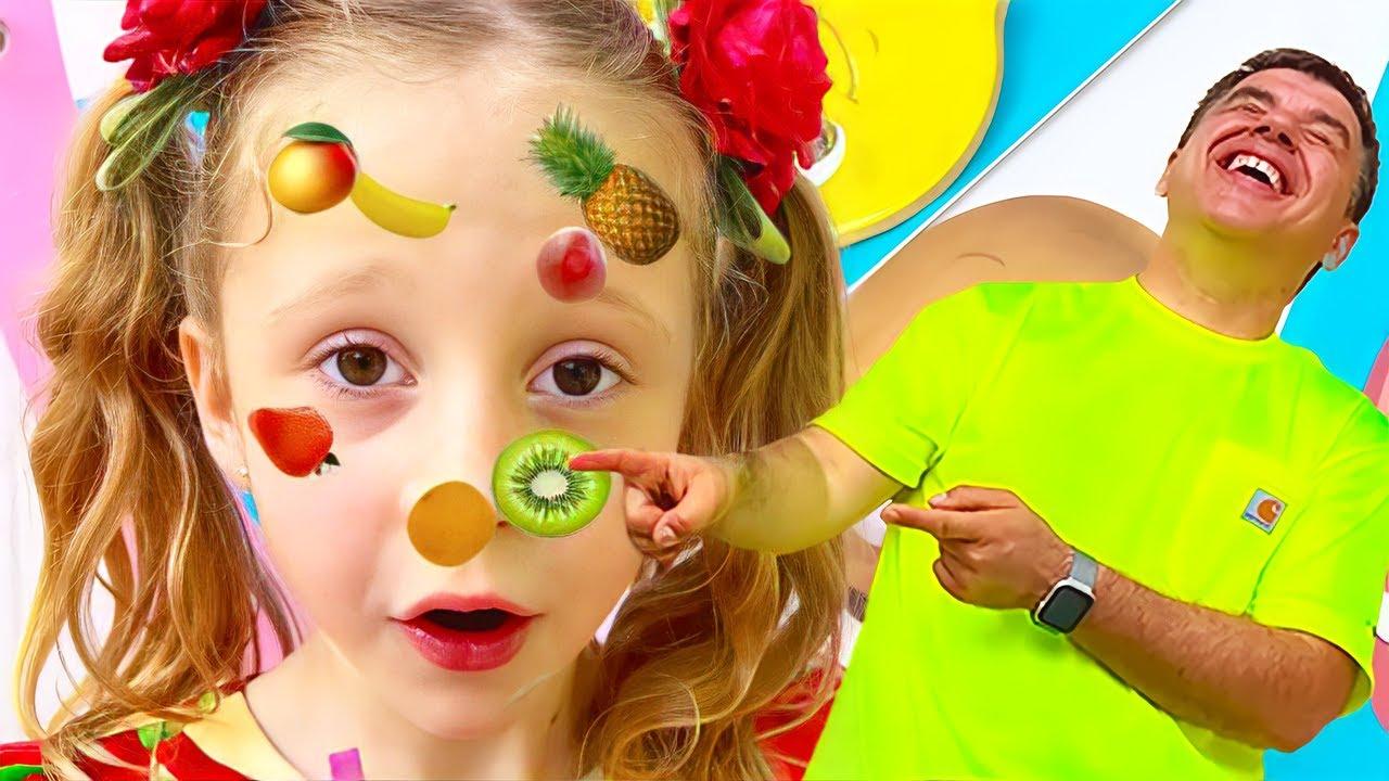 Download Nastya và bố chơi thử thách khiêu vũ với ngon trái cây và rau ngon
