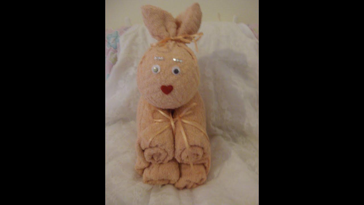 Come fare animali con asciugamani. Coniglio - YouTube
