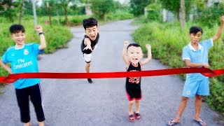 Running Competition Rabbit and Turtle race Children Song - Hacona and Best Friend Kids go to School