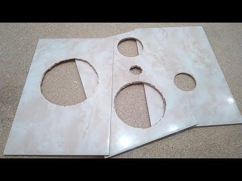 Как сделать отверстия в плитке своими руками при ремонте в ванной. Все способы для новичков