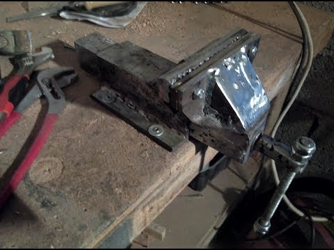 Homemade Vise Made From Scrap Metal