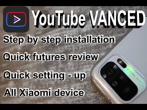 XIAOMI REDMI NOTE 10 - YOUTUBE VANCED - STEP BY STEP