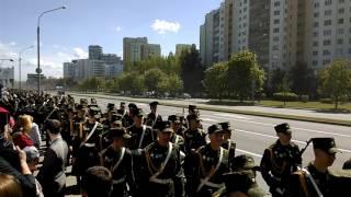 Военный парад техники.Минск