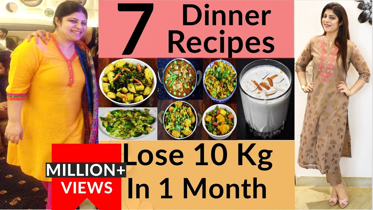 7 Dinner Recipes For Weight Loss In Hindi |Weight Loss Dinner Recipes In Hindi |High Protein Recipes