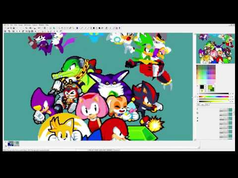 The official Sonic the Hedgehog print... Making of by artist Paul Veer