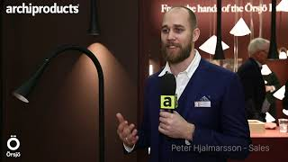 Stockholm Furniture & Light 2019 | Örsjö - Peter Hjalmarsson presents the new lamps Boa and Virvel