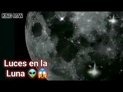 Extrañas luces en la superficie de la Luna , extraterrestres  ciudades en el lado oscuro Lunar ?