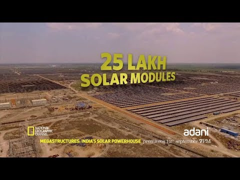 National Geographic featuring Adani's Solar Power Plant - Indian Institute of Solar Energy