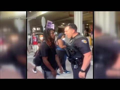 Fort Lauderdale police officer suspended after pushing protester