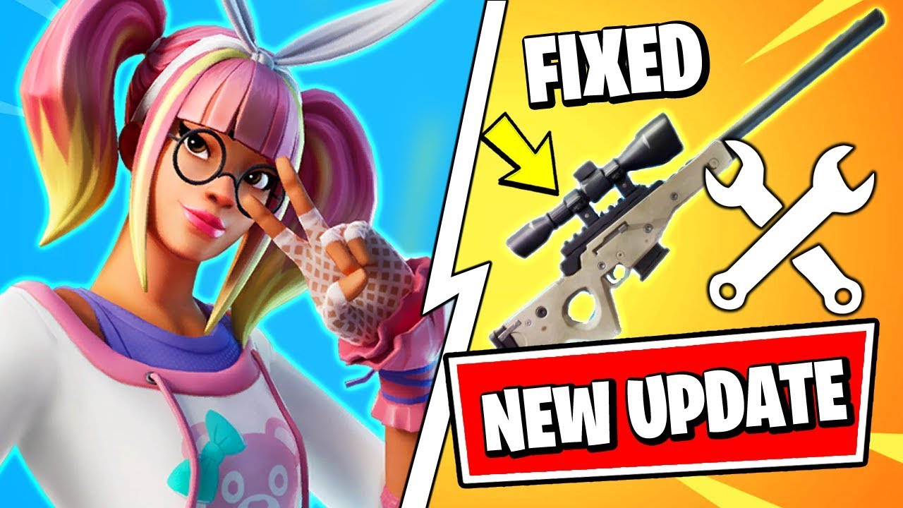 New Fortnite Update Sniper Fixed New Lace Skin Style Fortnite V1021 Patch Notes