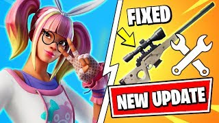 *NEW* Fortnite UPDATE | SNIPER FIXED & NEW LACE SKIN STYLE (Fortnite v10.21 Patch Notes)