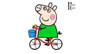 Peppa pig animated свинка Пепа раскраска 01 новая серия без рекламы