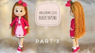Part 3  45cm Amigurumi Çilek Bebek (YÜZ ŞEKİLLENDİRME) ( Face Shaping) (ENG SUBTITLES ON)