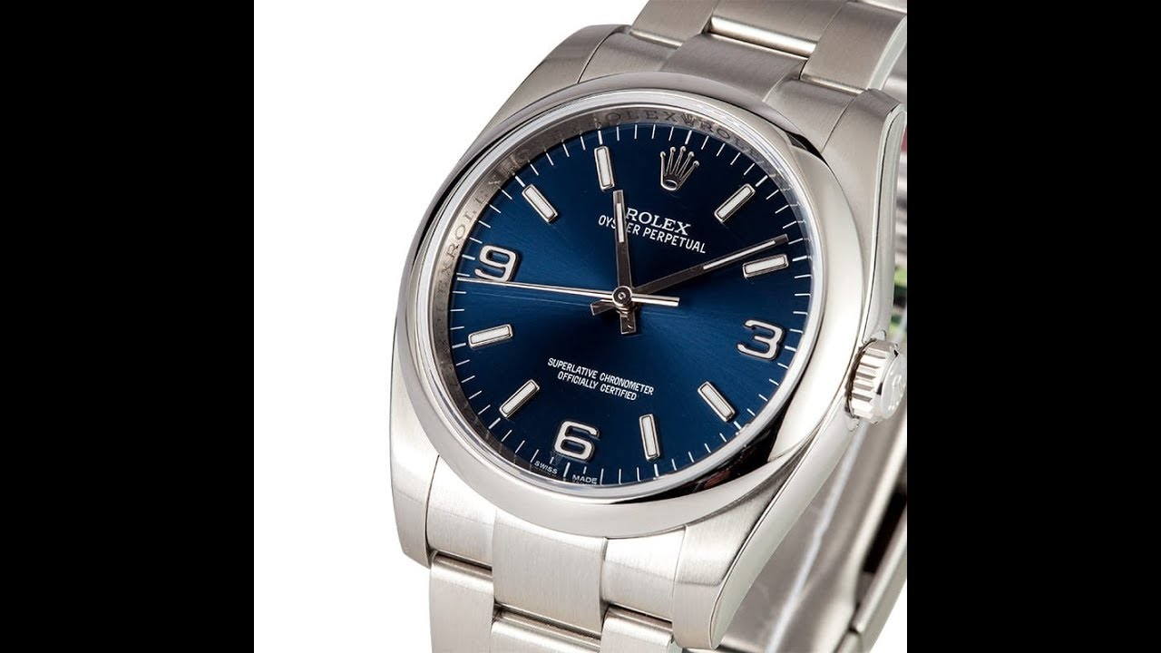 Ewc Review Striking Blue Dial Rolex Oyster Perpetual 36mm 116000