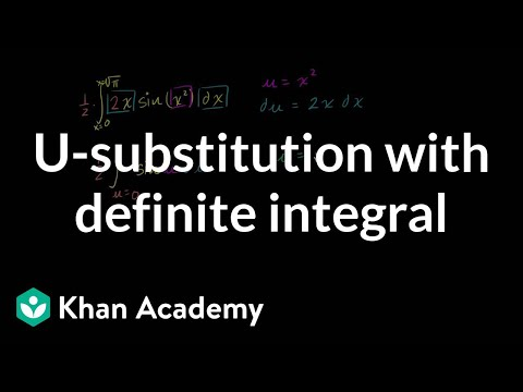 U-substitution with definite integral