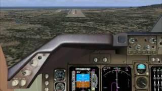 FSX PMDG 'sBoeing 747-400 Approach and autoland - Aproximación y aterrizaje automático